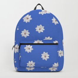 Blue and White Flowers Backpack