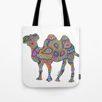 camel Tote Bags featuring Camel  by Shanaabird