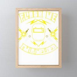Flash me Im a welder Framed Mini Art Print