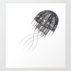 pattern jellyfish Art Print