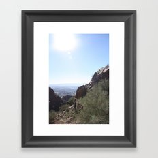 Between the Boulders Framed Art Print