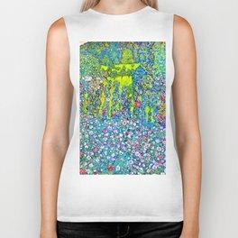 """Gustav Klimt """"Horticultural Landscape with hilltop"""" Biker Tank"""