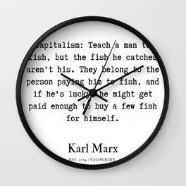 22  | Karl Marx Quotes | 190817 Wall Clock