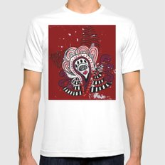 Pattern MEDIUM White Mens Fitted Tee