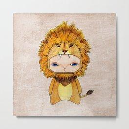 A Boy - Lion Metal Print