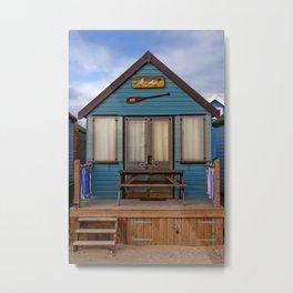 Beach Hut Hengistbury Head Dorset England Metal Print