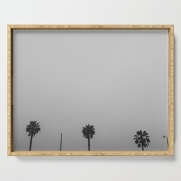 palm tree peek Serving Tray