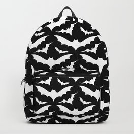 Black and White Bats Backpack