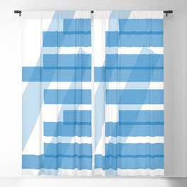 Electric Blue Slats Blackout Curtain