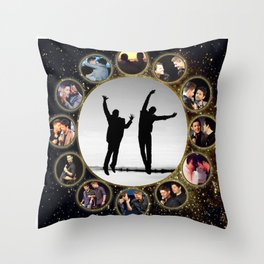 Cockles JensenAckles MishaCollins Throw Pillow