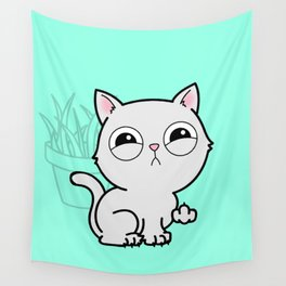 Kitty Knows Sign Language Wall Tapestry
