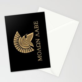 Molon lave-Spartan Warrior Stationery Cards