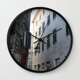 Travel photography I Old towen I Photo art made in Kotor I Art print Art print Wall Clock