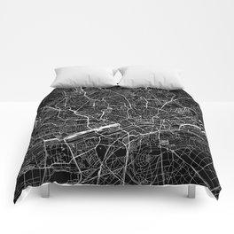 Frankfurt Black Map Comforters