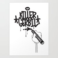 writer Art Prints featuring Writer by The Killer Gerbil