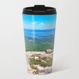 View of Bar Harbor, Maine from Cadillac Mountain (4) Metal Travel Mug