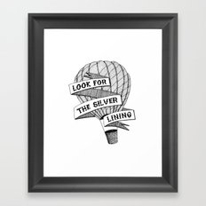Look for the silver lining Framed Art Print