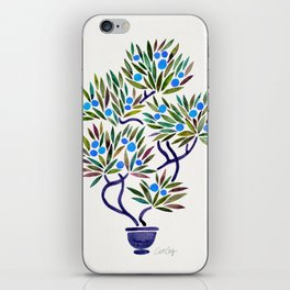 Bonsai Fruit Tree – Blue Palette iPhone Skin
