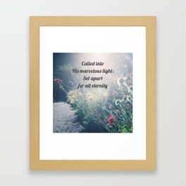 Called and Set Apart – Christian Truth Framed Art Print