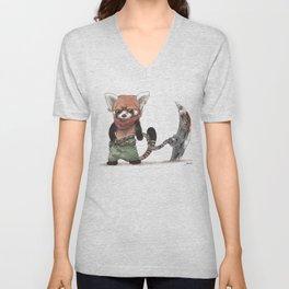 Panda Roux Barbare Unisex V-Neck