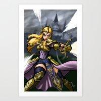 Queen Zelda Art Print