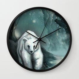 Spirit Bear Wall Clock