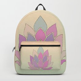 Lotus Flower Pastel Meditation Yoga Symbol Backpack