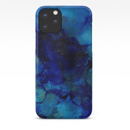 Deep Blue Trip I alcohol ink iPhone Case