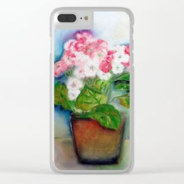 Vaso com flores V (Vase with flowers V) Clear iPhone Case
