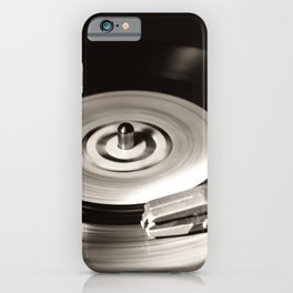 Music From a Vintage 45 RPM Record Playing on a Turntable 5 iPhone Case