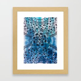 Blue Flower Mandala Framed Art Print