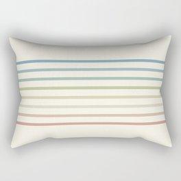 70s Pastel California Terrace Stripes Rectangular Pillow