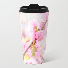 Pink sakura flowers - Japanese cherry blossom Travel Mug