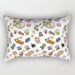 It's a really SUPER Mario pattern! Rectangular Pillow