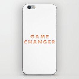 Game Changer iPhone Skin