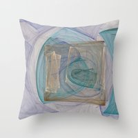 square Throw Pillows featuring Square  by Christy Leigh