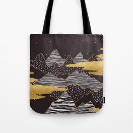Gold Mountain Peaks Tote Bag