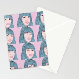 shes american pink Stationery Cards