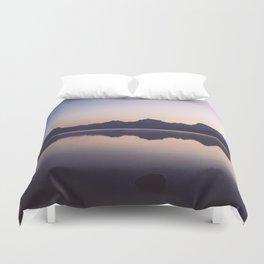 Sunrise over Glacier Duvet Cover