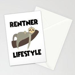 Retiree Lifestyle Like A Sleeping Sloth Stationery Cards