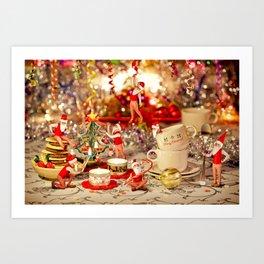Christmas Tea Art Print