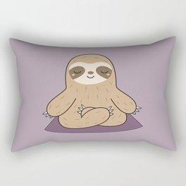Kawaii Cute Yoga Sloth Rectangular Pillow