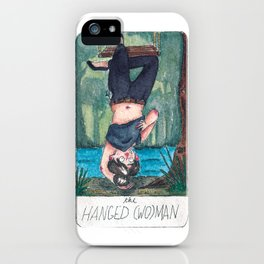 The Solipsist Tarot   XII - The Hanged (Wo)man iPhone Case