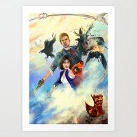 bioshock Art Prints featuring Bioshock Infinite by Alba Palacio
