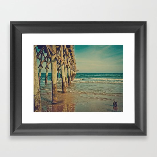 Fishing pier surf city beach topsail island nc vintage for Surf city pier fishing report facebook