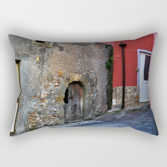 Sicilian Medieval Village (The Godfather/ Francis Ford Coppola/1971) Rectangular Pillow