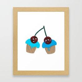 Cupcakes - Blue Framed Art Print