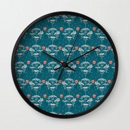 Mongolia Sunset Forest Wall Clock