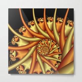 spiral art -b- Metal Print