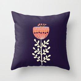 single flower no1 Throw Pillow